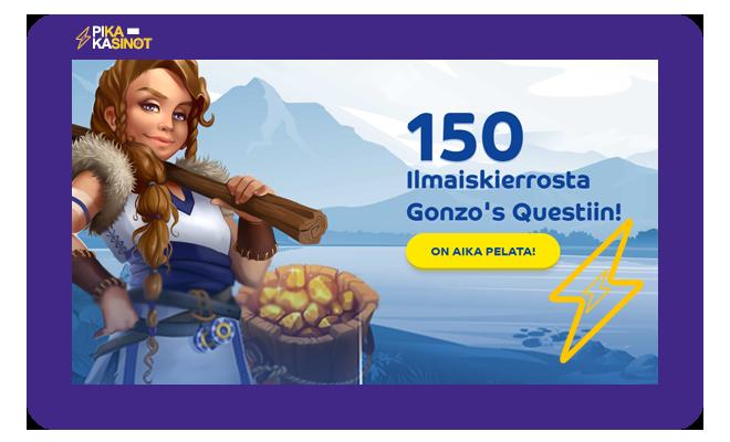 Pelaa.com tarjous uusille asiakkaille on 150 ilmaiskierrosta