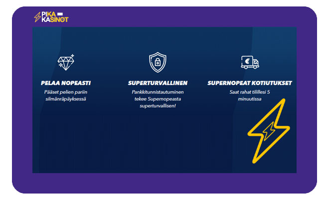 Supernopea kolme kovaa syytä valita