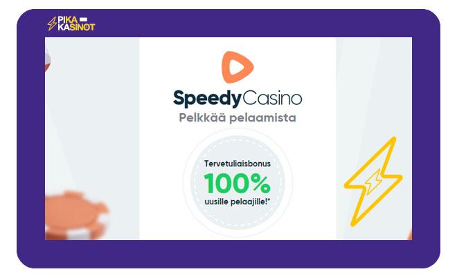 Speedy Casino tarjoaa Non-sticky talletusbonuksen