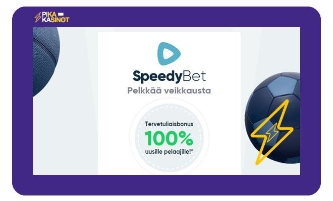 Spedybet ensitalletusbonus on 100% 200 € asti
