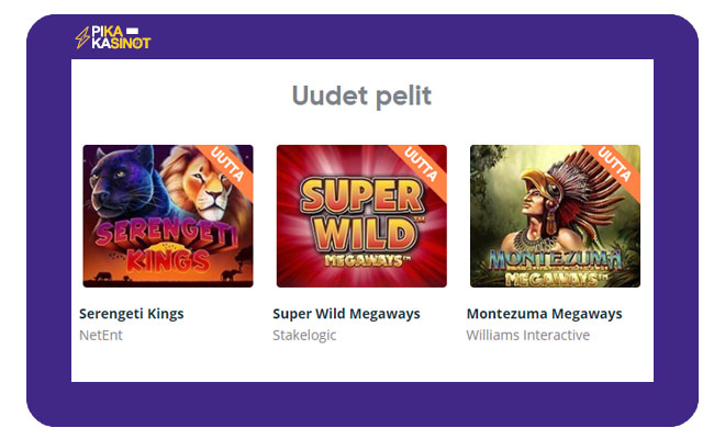 Speedy Casinon uudet pelit