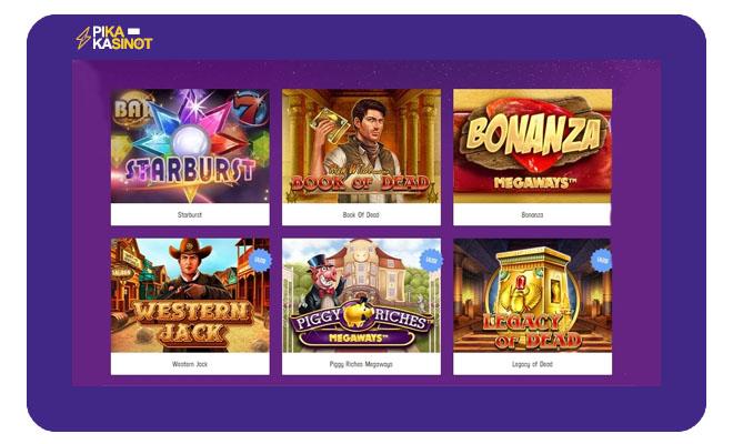Lucky Casinon pelivalikoimasta löytyy yli 1 800 kolikkopeliä