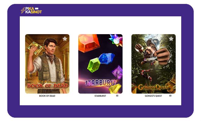 Pelataan.com on itse luonut tyylikkäät kuvakkeet kolikkopeleille.