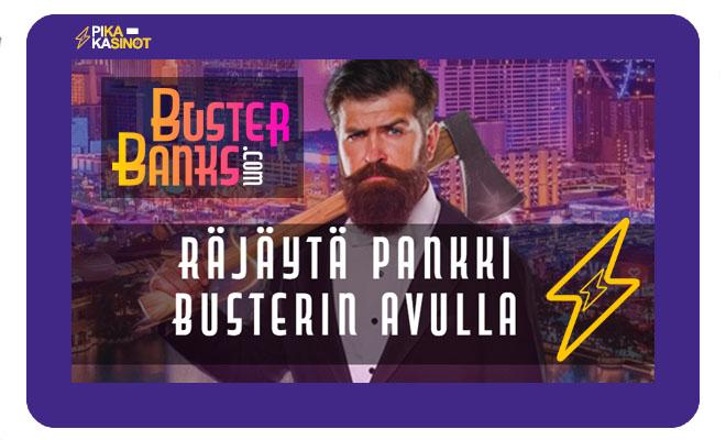 Kokeile uutta jackpot kolikkopelien kasinoa Buster Banksia