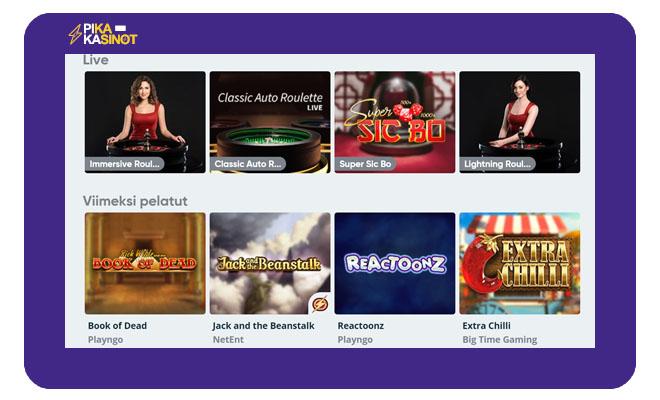 Simple Casinon pelivalikoimasta herää positiivisia kokemuksia