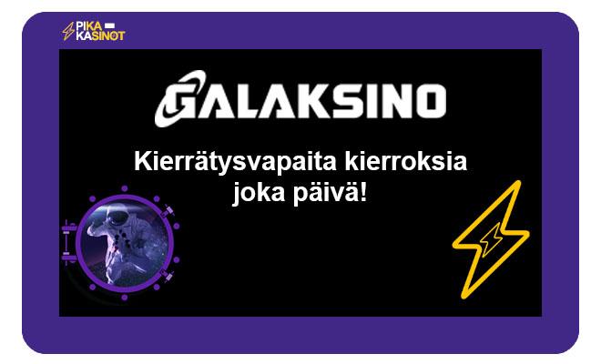 Galaksino casino tarjoaa kierrätysvapaita ilmaiskierroksia kaikille pelaajilleen joka päivä