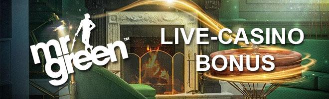 MR Green 100% live-casino bonuksen voi kierrättää esimerkiksi ruletissa