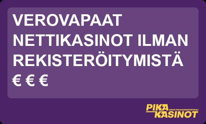 euro ja verovapaat nettikasinot ilman rekisteröintiä