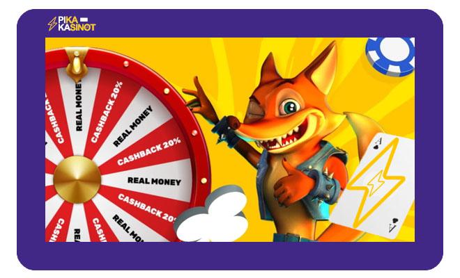Crazy Fox kasinolla pääsee pelien makuun nopeasti