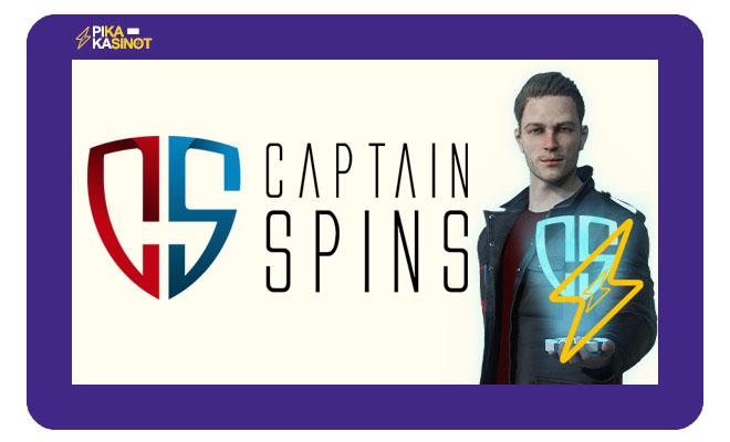 Captain Spins toivottaa kaikki uudet pelaajat tervetulleeksi.
