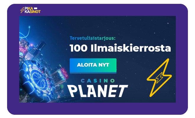 Casino Planet tarjoaa uusille asiakkailleen 100 ilmaiskierrosta book of dead peliin