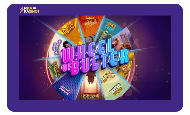Wheel of Buster antaa sinulle automaattisen bonuksn yhteen peliin