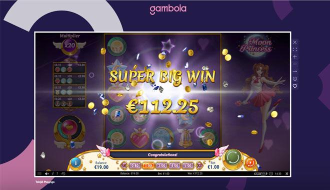 Gambola Casinolta tuli suuri voitto