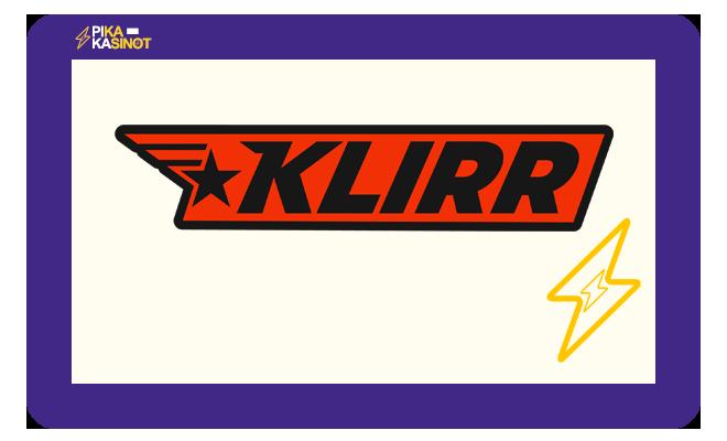 Syyskuussa 2020 julkaistavan Klirr Casinon logo