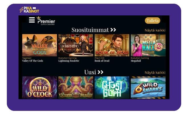 Premier Live Casinon aula