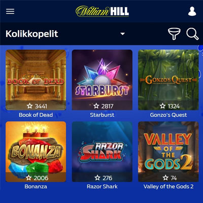 Sirry William Hill kasinolle