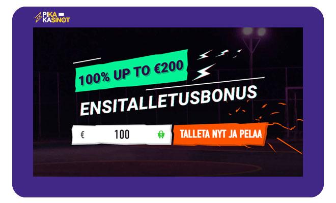 Betinia Casino talletusbonus on voimassa jopa 500 euroon asti
