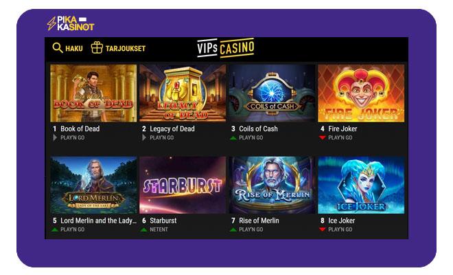 VIPs Casino kokemuksia voi kerätä nopeasti ja vaivattomasti pikakasino ominaisuudella