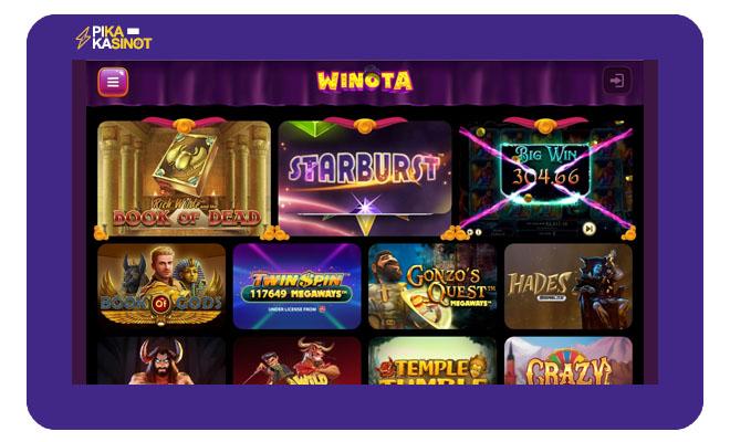 Keräsimme Winota Casino kokemuksia helmikuussa 2021
