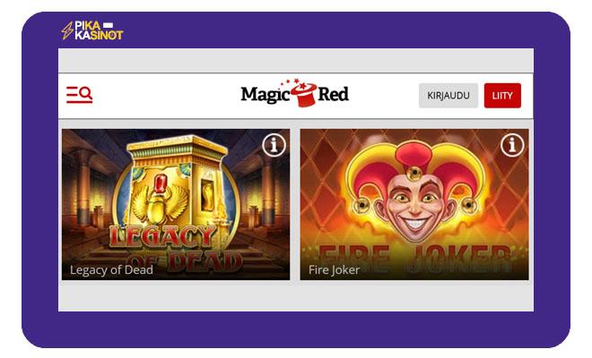 Keräsimme Magicred casino kokemuksia