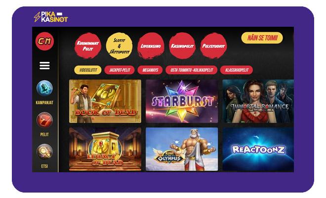 Keräsimme Casinomasters kokemuksia