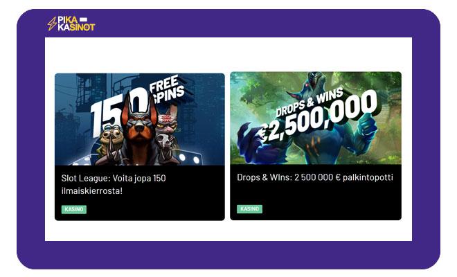 KTO.bet tarjoaa useita eri kampanjoita, jotka kiinnostavat pelaajia
