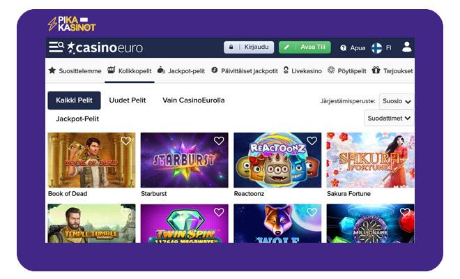 Keräsimme CasinoEuro kokemuksia