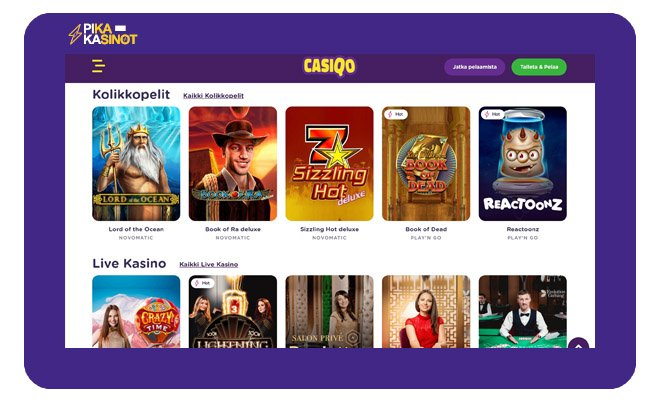 Keräsimme Casiqo Casino kokemuksia lukijoillemme
