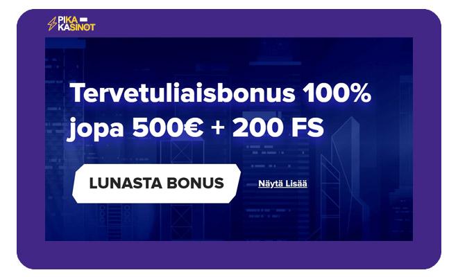 Sportaza Casino bonus on 100% 500 € asti + 200 ilmaiskierrosta