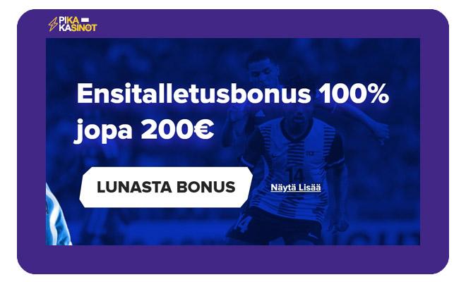 Sportaza Vedonlyöntibonus on 100% 200 € asti