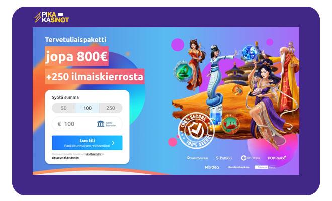 Cadoola Casino 120% bonus toimii 240 € asti