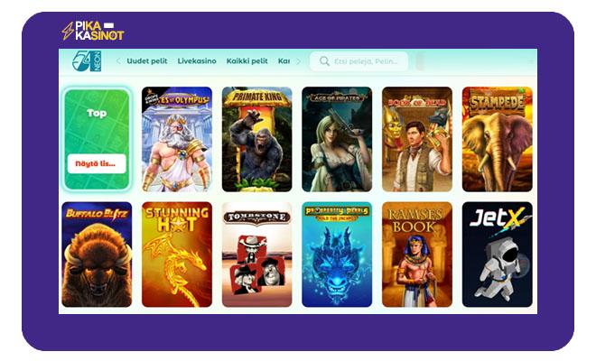 Keräsimme Neon54 Casino kokemuksia sivuston aulasta