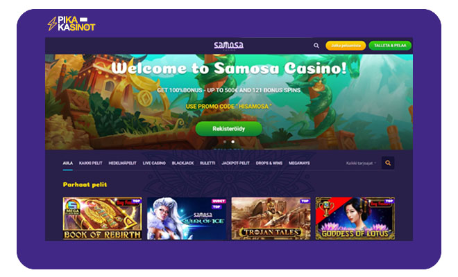 Esittelyssä Samosa Casinon aula